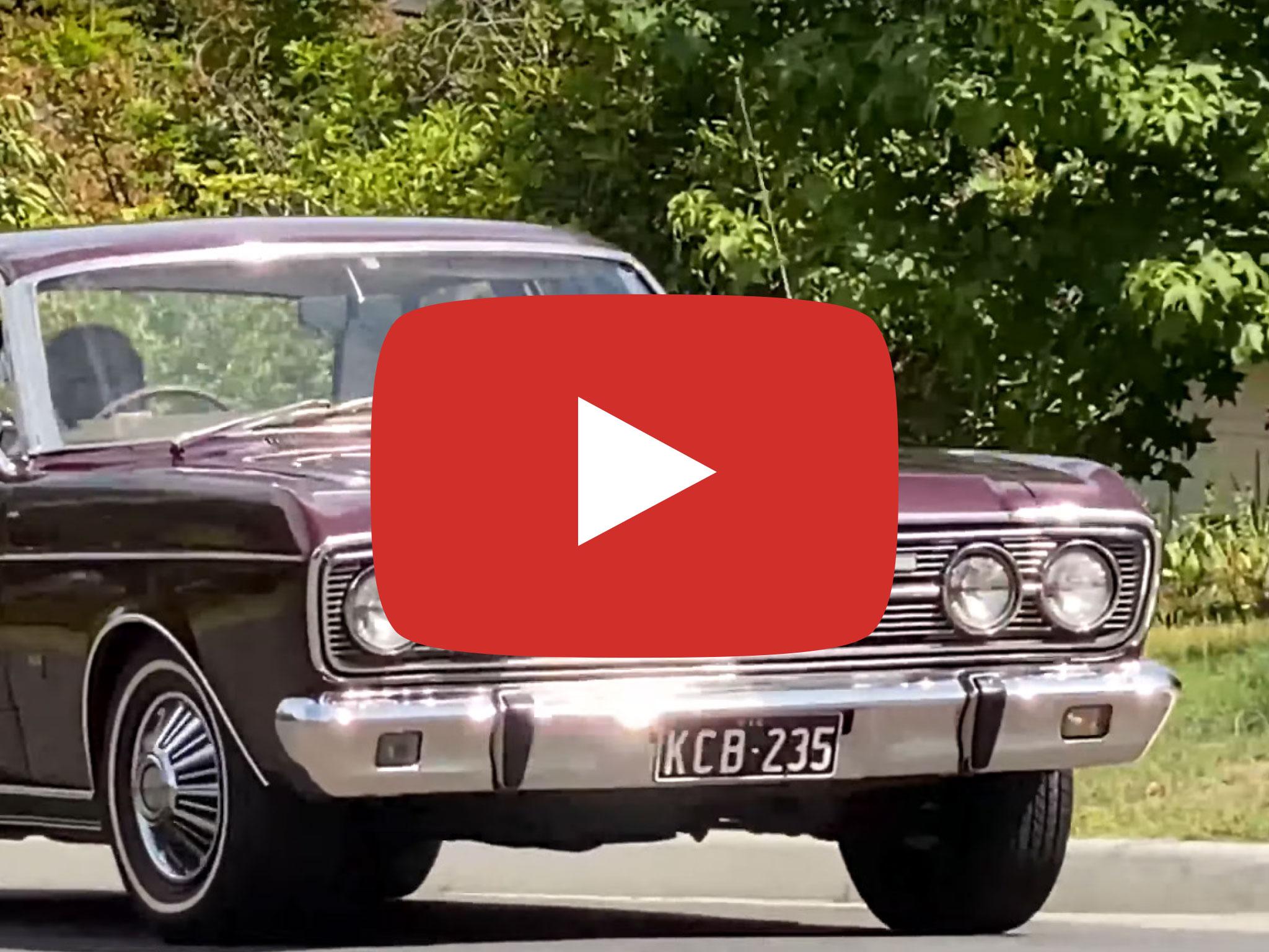 Ford Fairlane 500, 1968 version, Video, Mt Waverley. Video taken by Ralf Boetker in January 2020