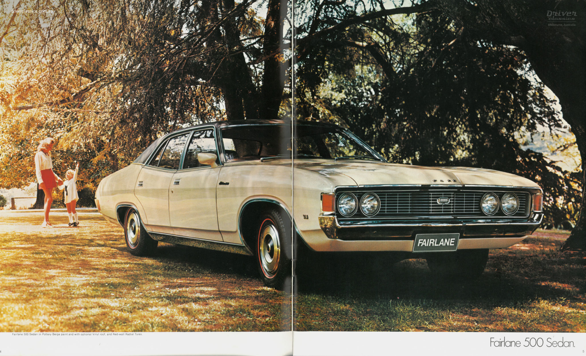 Page from 1972 Ford Fairlane 500 brochure